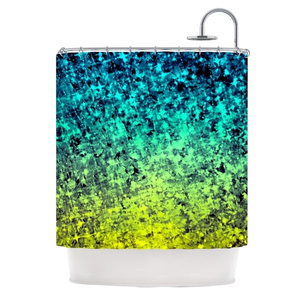 KESS InHouse Ebi Emporium Ombre Love Blue Yellow Shower Curtain (69x70)