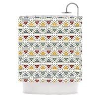 KESS InHouse Julia Grifol Ikat Triangles Multicolor Shower Curtain (69x70)