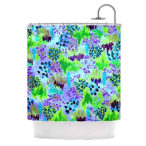 KESS InHouse Ebi Emporium Lagoon Love Lavender Green Shower Curtain (69x70)