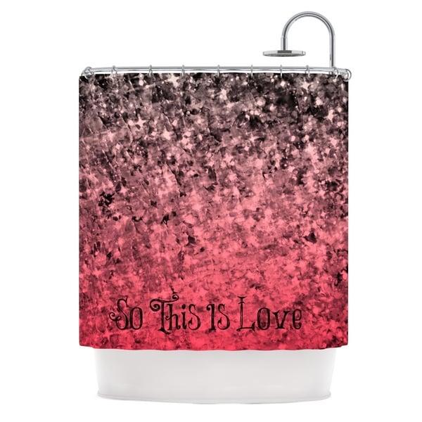 KESS InHouse Ebi Emporium So This Is Love Pink Glitter Shower Curtain 69x70