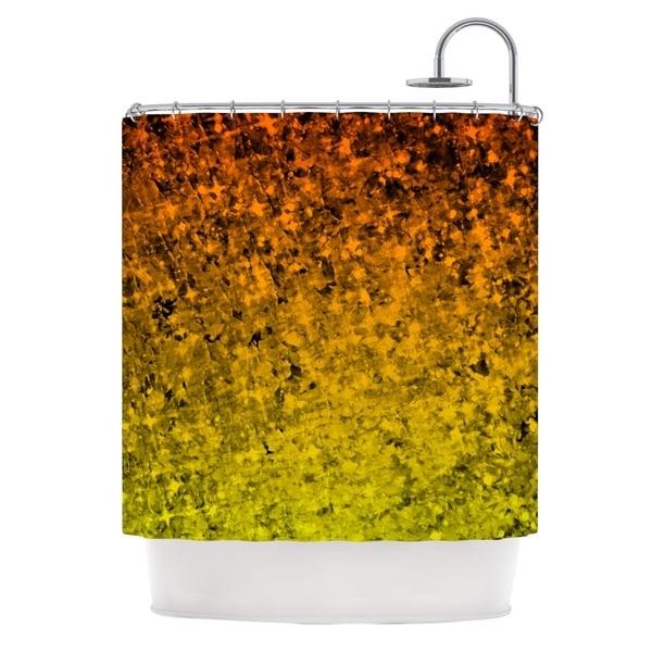 KESS InHouse Ebi Emporium Romance Me In Tangerine Gold Glitter Shower Curtain 69x70