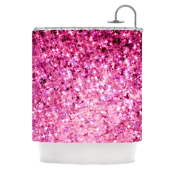 KESS InHouse Ebi Emporium Romance Me Pink Glitter Shower Curtain (69x70)
