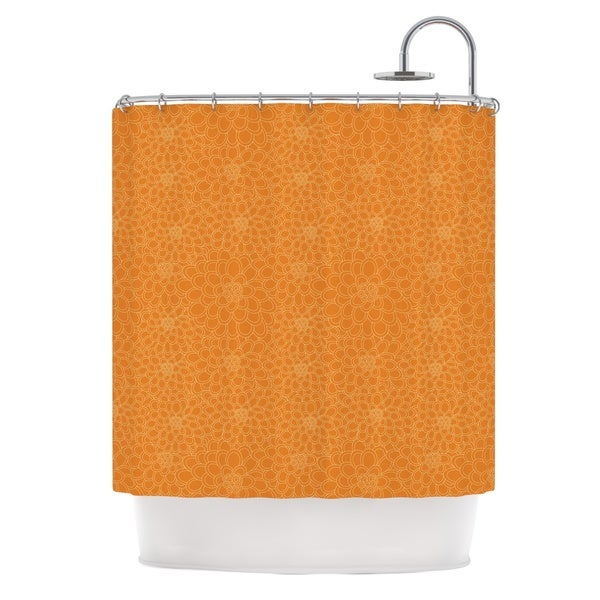 KESS InHouse Julia Grifol Orange Flowers Shower Curtain (69x70)