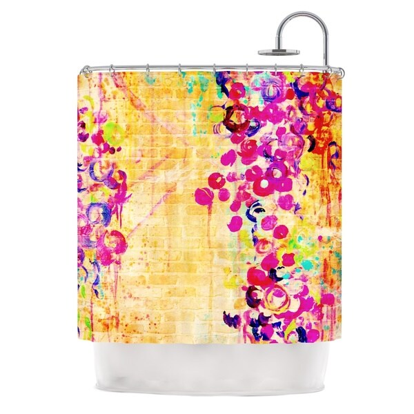 KESS InHouse Ebi Emporium Wall Flowers Shower Curtain (69x70)
