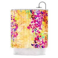 KESS InHouse Ebi Emporium Wall Flowers Shower Curtain (69x70)