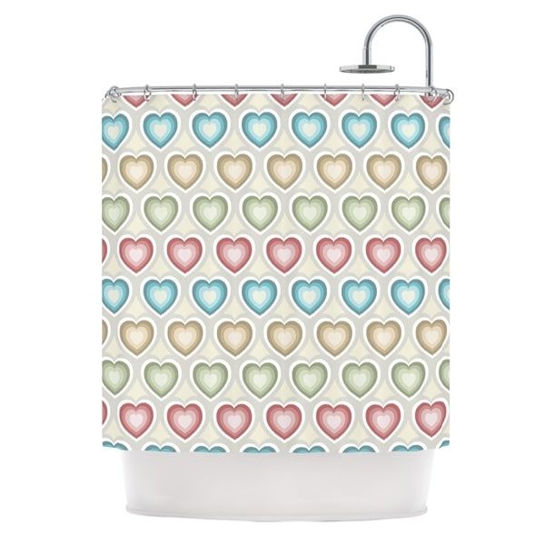 KESS InHouse Julia Grifol My Hearts Multicolor Shower Curtain (69x70)