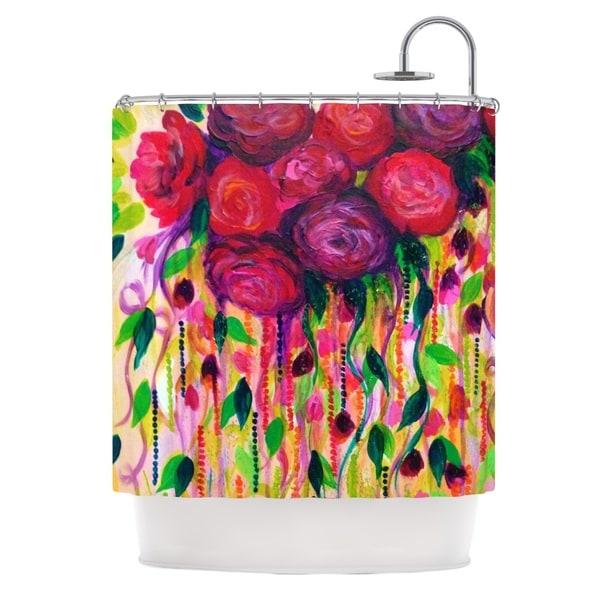 KESS InHouse Ebi Emporium Roses are Red Shower Curtain (69x70)