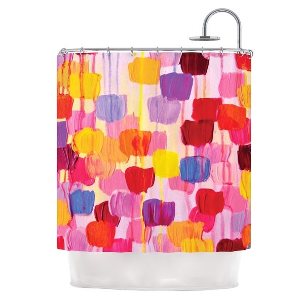 KESS InHouse Ebi Emporium Dotty in Pink Shower Curtain (69x70)