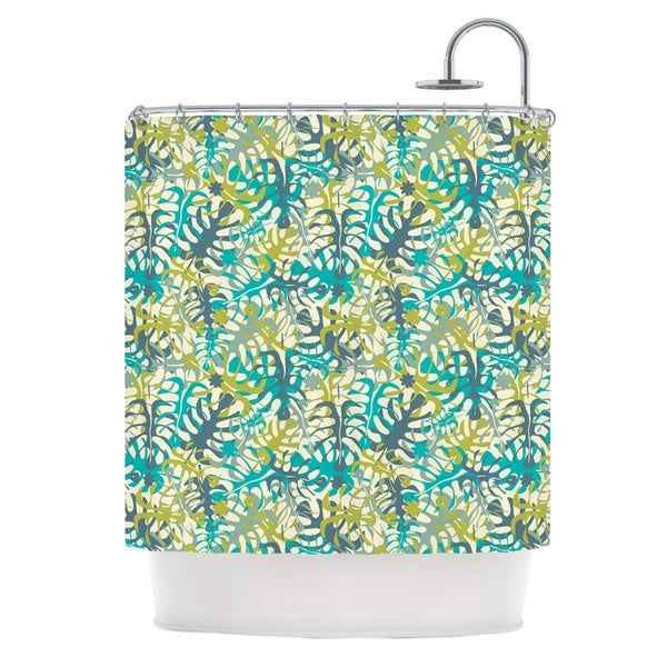 KESS InHouse Julia Grifol Tropical Leaves Shower Curtain (69x70)