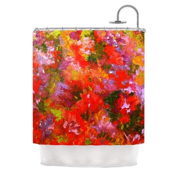 "KESS InHouse Jeff Ferst ""Summer Garden"" Floral Painting Shower Curtain (69x70) - 69 x 70"