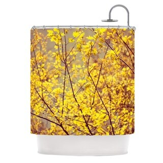 KESS InHouse Ingrid Beddoes Autumn Yellow Shower Curtain (69x70)