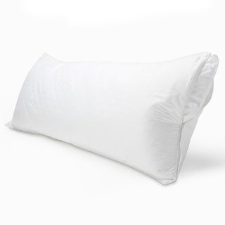 300 Thread Count Cotton Sateen Quilted Body Pillow Protector with Zipper (Set of 2)