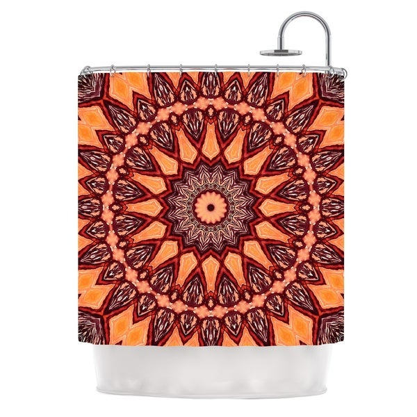 KESS InHouse Iris Lehnhardt Colors of Africa Brown Orange Shower Curtain (69x70)