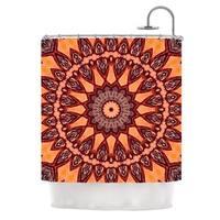 "KESS InHouse Iris Lehnhardt ""Colors of Africa"" Brown Orange Shower Curtain (69x70) - 69 x 70"