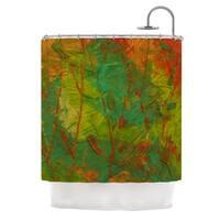 KESS InHouse Jeff Ferst Evergreens Green Red Shower Curtain (69x70)