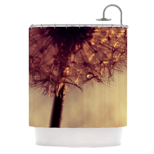 KESS InHouse Ingrid Beddoes Droplets of Gold Shower Curtain (69x70)