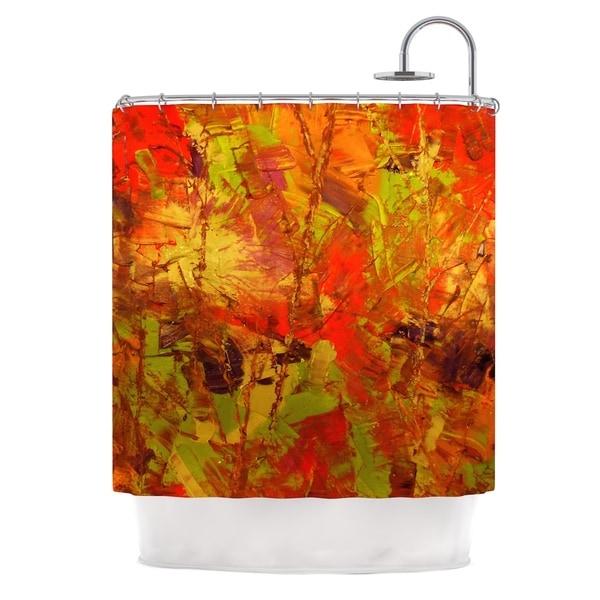 KESS InHouse Jeff Ferst Autumn Orange Red Shower Curtain (69x70)