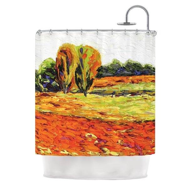 KESS InHouse Jeff Ferst Summer Breeze Orange Foliage Shower Curtain (69x70)
