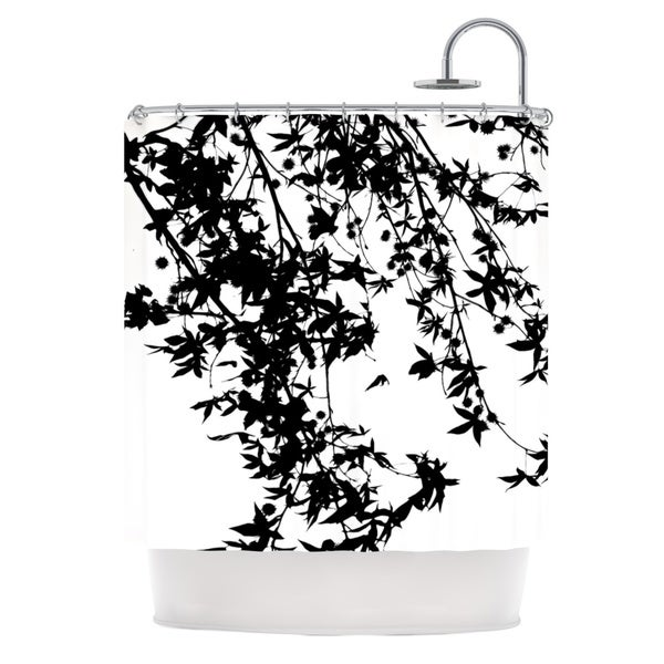 KESS InHouse Ingrid Beddoes Black on White Shower Curtain (69x70)