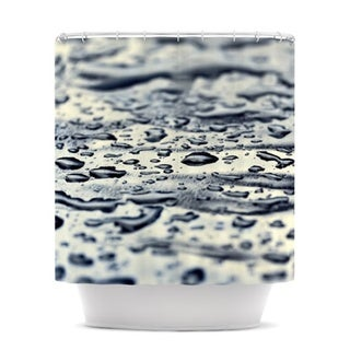 KESS InHouse Ingrid Beddoes Blue Ice Raindrops Shower Curtain (69x70)