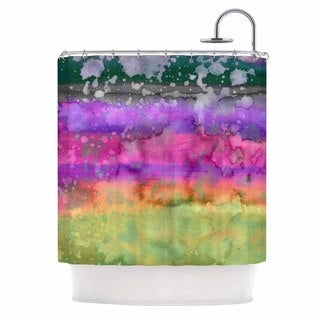 KESS InHouse Ebi Emporium California Surf 5 Pink Purple Shower Curtain (69x70)