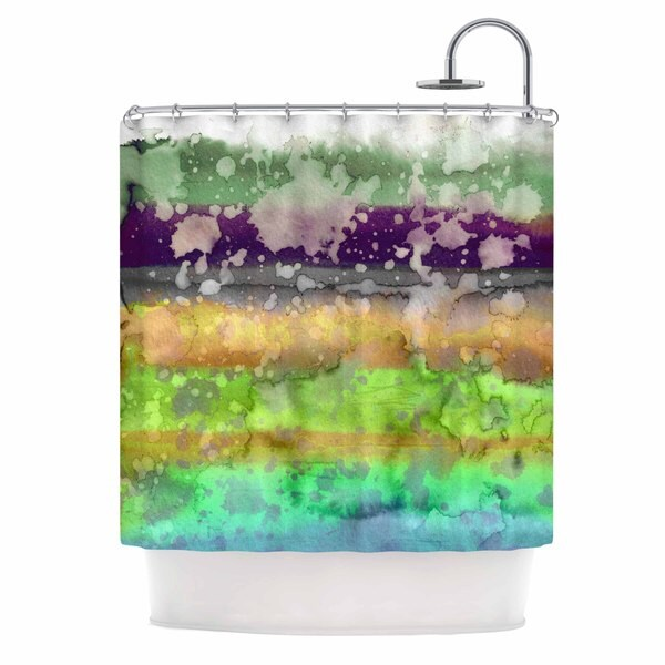 KESS InHouse Ebi Emporium California Surf 6 Teal Purple Shower Curtain (69x70)