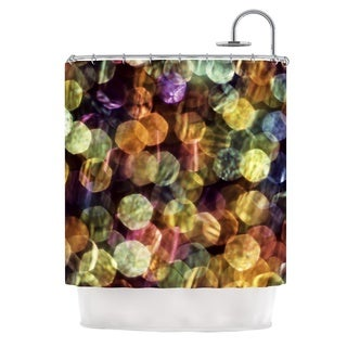 KESS InHouse Ingrid Beddoes Warm Sparkle Shower Curtain (69x70)