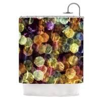 KESS InHouse Ingrid Beddoes Warm Sparkle Shower Curtain (69x70)