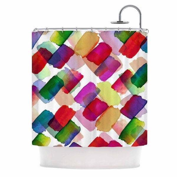 KESS InHouse Ebi Emporuim Strokes Of Genius 2, Rainbow  Purple Yellow Shower Curtain (69x70)
