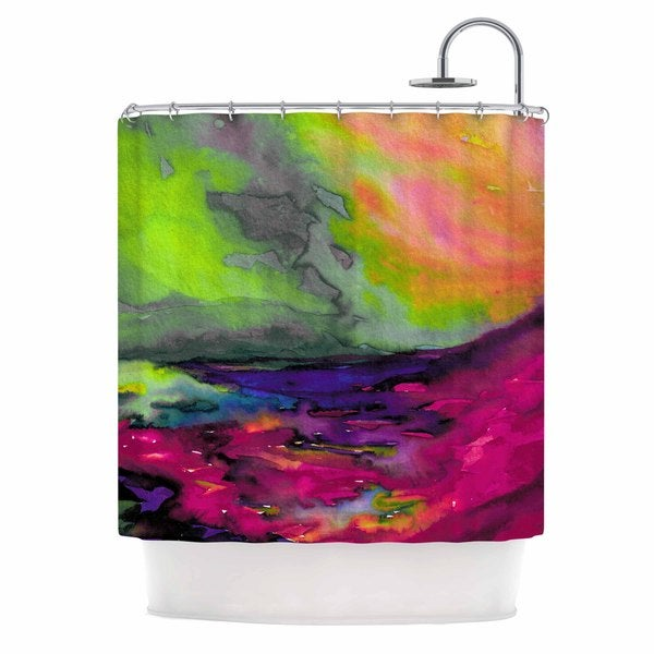 KESS InHouse Ebi Emporium Elevated 1, Magenta Orange Pink Shower Curtain (69x70)