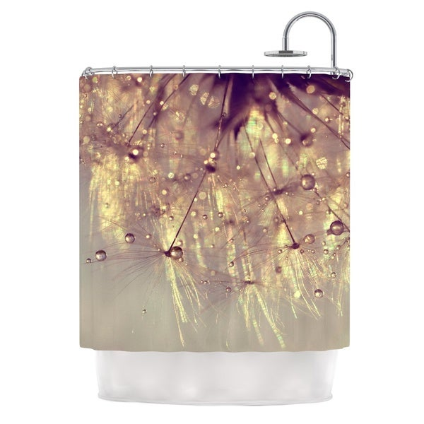 KESS InHouse Ingrid Beddoes Sparkles of Gold Shower Curtain (69x70)