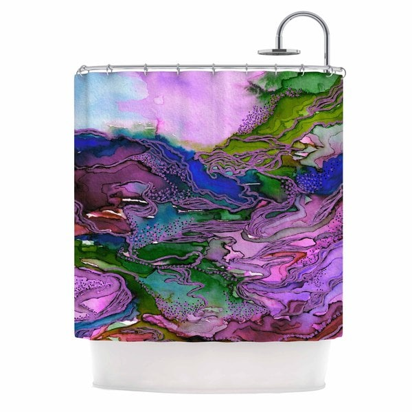 KESS InHouse Ebi Emporium Bring On Bohemia 2, Lavender  Blue Purple Shower Curtain (69x70)