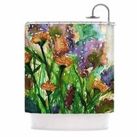 KESS InHouse Ebi Emporium Floral Insurgence 6 Pink Purple Shower Curtain (69x70)