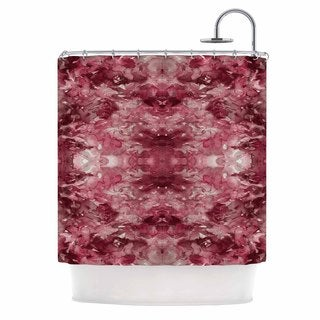 KESS InHouse Ebi Emporium Tie Dye Helix, Red Burgundy Abstract Shower Curtain (69x70)