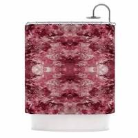 KESS InHouse Ebi Emporium Tie Dye Helix, Red Burgundy Abstract Shower Curtain (69x70)