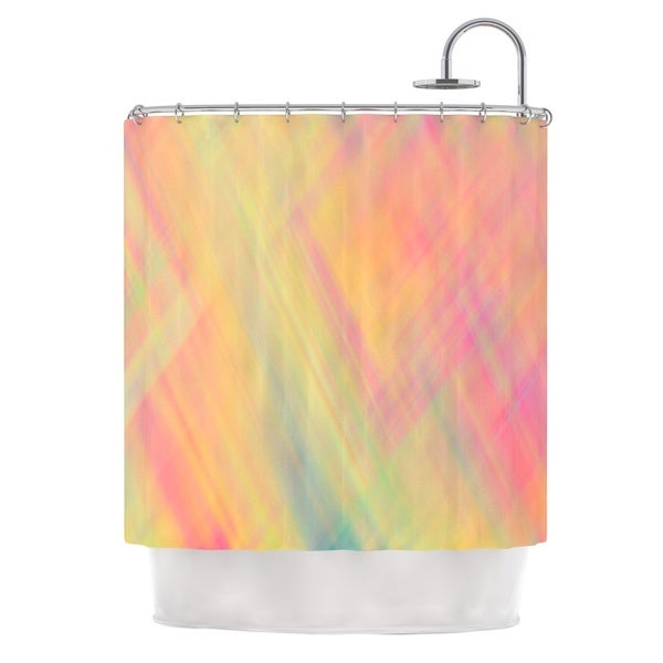 KESS InHouse Ingrid Beddoes Pastel Abstract Shower Curtain (69x70)