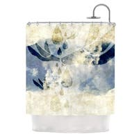 KESS InHouse iRuz33 Doves Cry Shower Curtain (69x70)