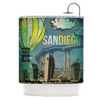 KESS InHouse iRuz33 San Diego Shower Curtain (69x70)