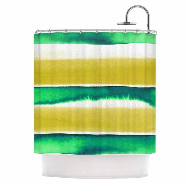 KESS InHouse Ebi Emporium Summer Vibes 3, Yellow Green Yellow White Shower Curtain (69x70)