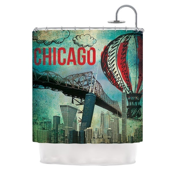 KESS InHouse iRuz33 Chicago Shower Curtain (69x70)