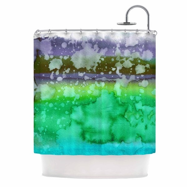 KESS InHouse Ebi Emporium California Surf 3 Green Teal Shower Curtain (69x70)