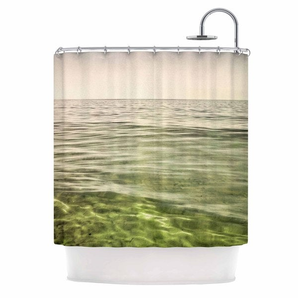 KESS InHouse Iris Lehnhardt Mystic Sea Green Blue Shower Curtain (69x70)