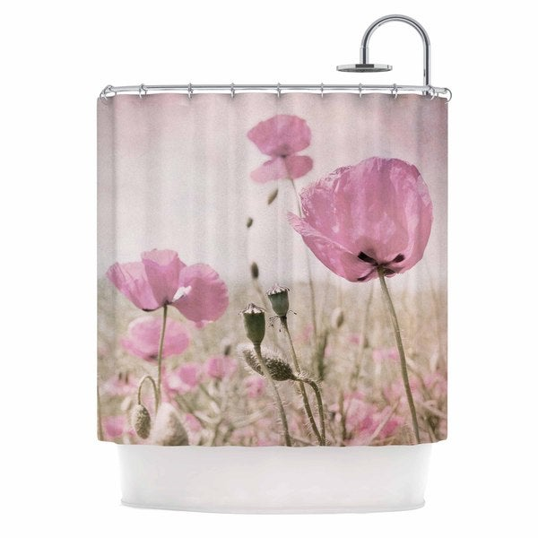 KESS InHouse Iris Lehnhardt Summer Dream Pink Floral Shower Curtain (69x70)