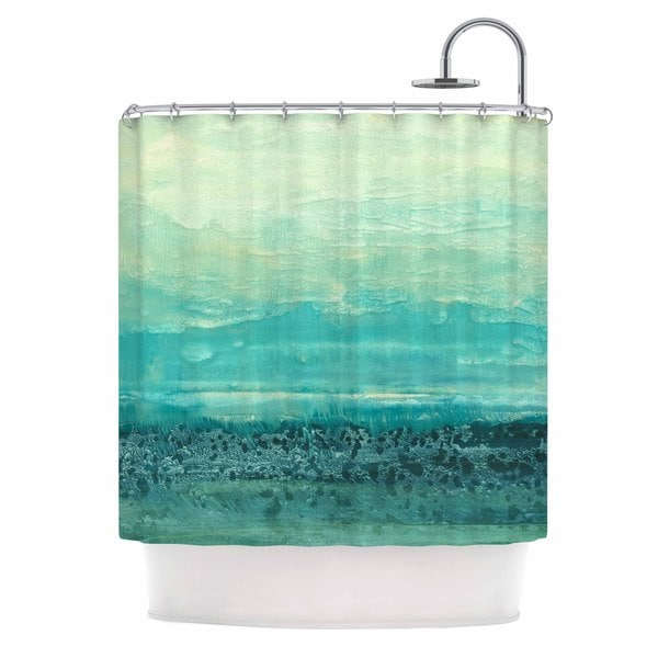 KESS InHouse Iris Lehnhardt Oceanic Teal Blue Shower Curtain (69x70)