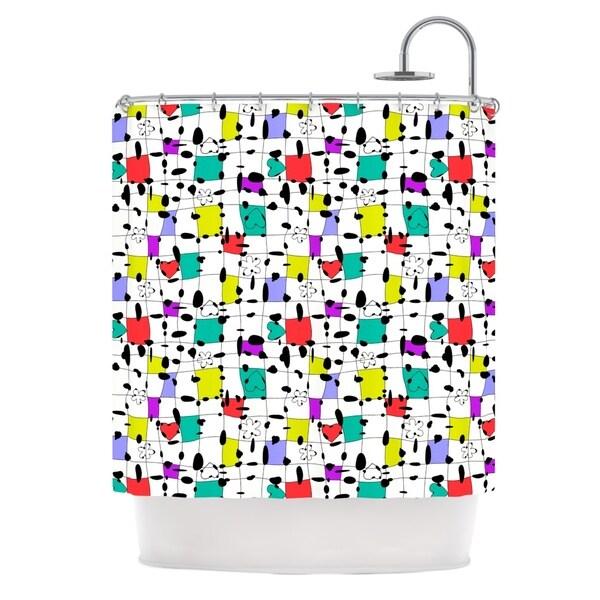 KESS InHouse Julia Grifol My Happy Squares Shower Curtain (69x70)