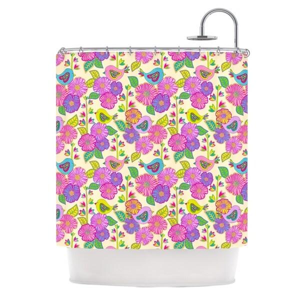KESS InHouse Julia Grifol My Birds and My Flowers Shower Curtain (69x70)