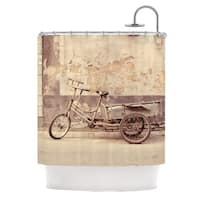 KESS InHouse Jillian Audrey The Gray Bicycle Brown Photography Shower Curtain (69x70)