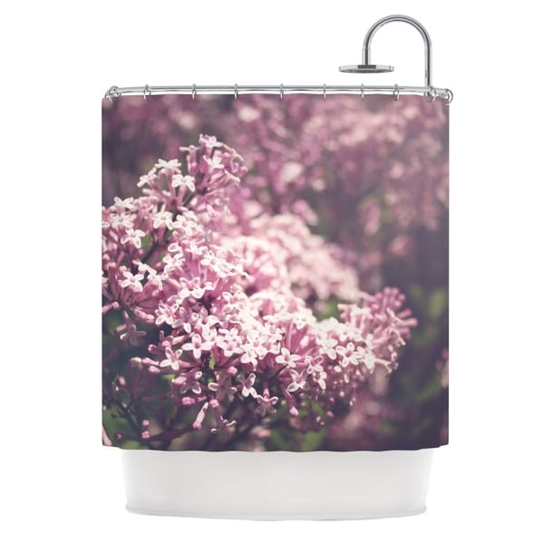 KESS InHouse Jillian Audrey Lilacs Pink Floral Shower Curtain (69x70)