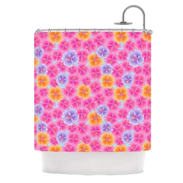 KESS InHouse Julia Grifol My Pink Garden Shower Curtain (69x70)