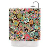 KESS InHouse Julia Grifol My Butterflies & Flowers Shower Curtain (69x70)